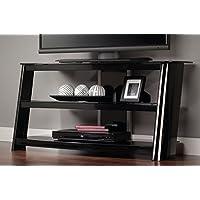 Sauder Razor Panel TV Stand, Black Finish