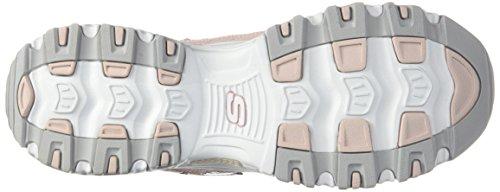 Mujer blanco Skechers Deporte De 11422 Rosa Claro Bkw Para Zapatillas wvq4YxT