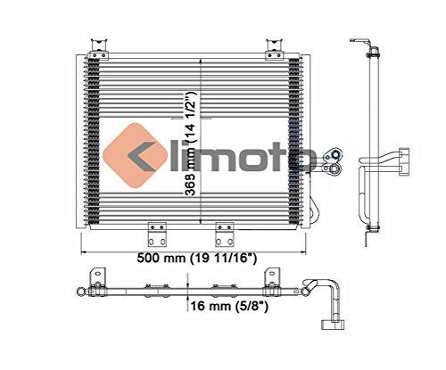 Replaces CH3030152 55115918 55115918AB Klimoto Condenser fits Jeep ...