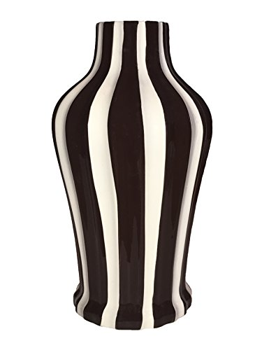 Striped Ceramic (TUSCAN COLLECTION CLASSIC CHOCOLATE & WHITE STRIPED CERAMIC VASE, 80576 BY ACK)