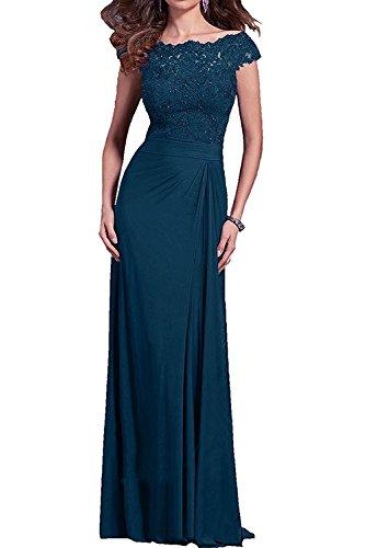mia Royal Ballkleider Brautmutterkleider Abendkleider Langes Braut Lang La Promkleider Tinte Abschlussballkleider Damen Blau Spitze Blau pdHxw