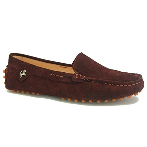 Meijili Women's Suede Loafer Flats Driving Moccasin Work Comfortable Casual Shoes Coffee lHW4yiToN