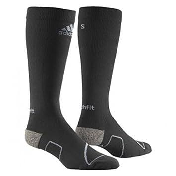 Adidas Performance Mens Techfit Calcetines de compresión Negro/Gris Z11488 RRP £15, Color Negro/Gris, tamaño UK 4.5-6: Amazon.es: Deportes y aire libre
