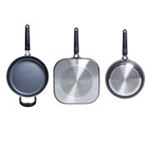 Tasty 11pc Cookware Set Non-Stick PFOA Free Diamond Reinforced Gunmetal Epoca International TZA01-P312