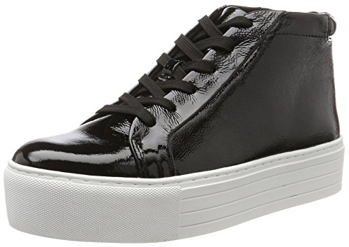 Kenneth Cole New York Women's Janette High Top Lace Up Platform Sneaker Patent Fashion, Black, 7 M - Patent Black Top High