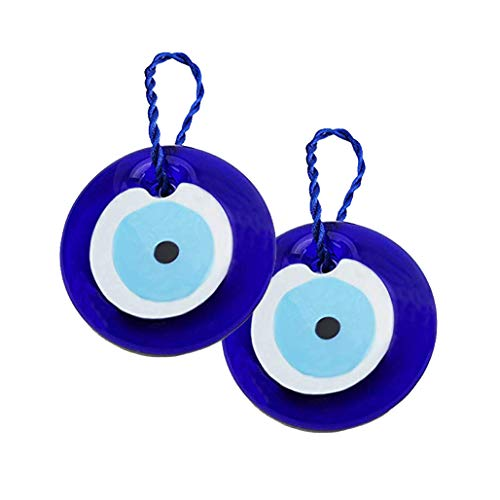 """We Pay Your Sales Tax [2 Pack] 3"""" Large Size Turkish Blue Evil Eye (Nazar) ~ Blue Glass Evil Eye Amulet Charm Pendant for Protection (KT00101)"""