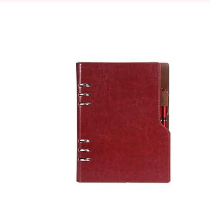 Notebook A5 Leather Bullet Journal Organizador anual para ...