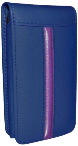 Piel Frama Ledertasche Classic Magnetic RACE Edition Blau/Fuchsia für Apple iPhone 5 / 5S