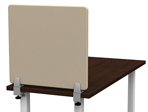 Merge Works Clamp on 23 x 22 Acoustical Desktop Privacy Panel in Tan, Tackable by Merge Works