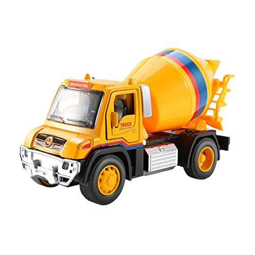 - Insaneness Baby Toddler Toys Y66 Kidplay Friction Powered Cement Truck Construction Lights and Sounds Toy (B)