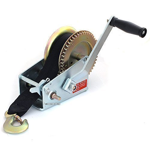 2000lb Hand Boat Winch with 8m Webbing Strap by Tooltime