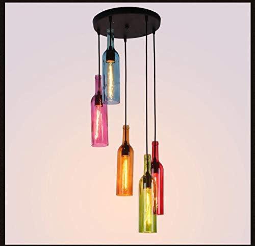 Retro LED Hänge Leuchte Wohn Zimmer Pendel Lampe Glas Beleuchtung Glüh Birne