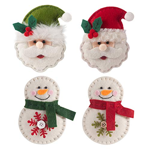 GMOEGEFT Handmade Felt Hanging Ornaments, Party Favors, Holiday Decorations, Home Decor (Set of 4)