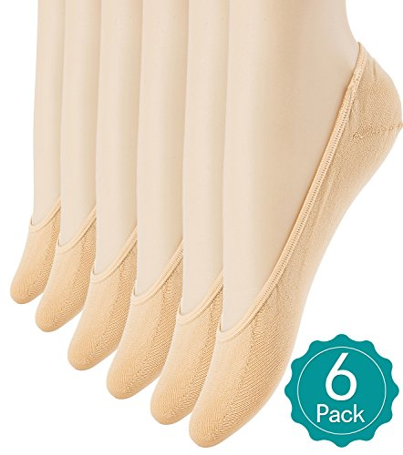 6-Pairs-Womens-No-Show-Socks-Ultra-Low-Cut-Casual-Socks-Non-Slip-No-Show-Liner-Socks-Beige