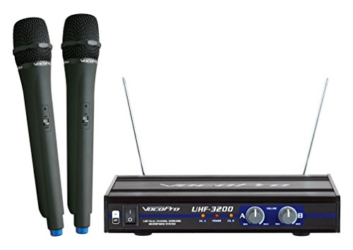 - VocoPro UHF-3200 UHF-Dual Channel Wireless Microphone System
