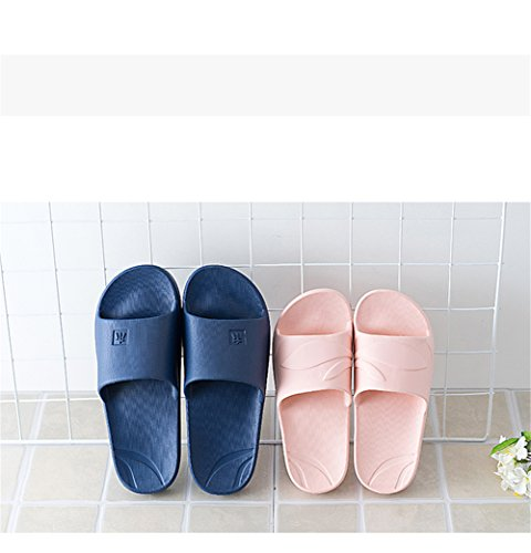 Slip Men Slippers Blue Bottom Male Anti Female Home Bathroom Slippers TELLW Summer Thick Indoor Cool for Dark qOwpgzxp