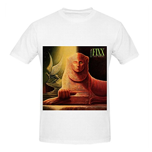 Shirt Maroon Axl (The Fixx Calm Animals Pop Men O Neck Customized Shirt White)