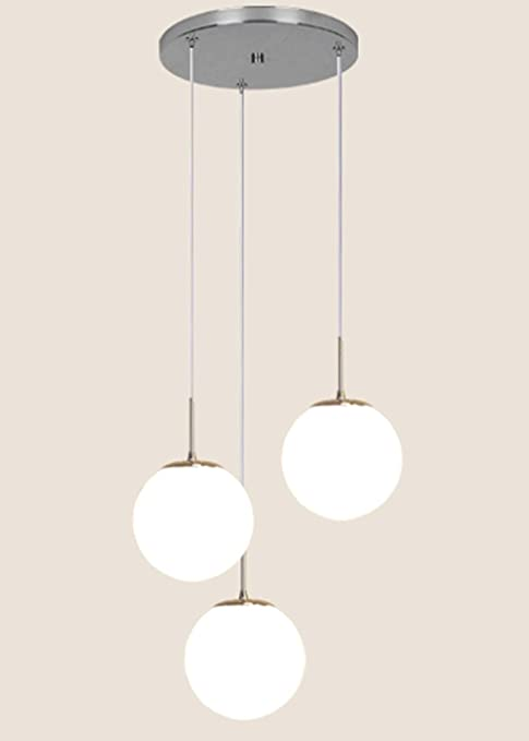 Dormitorio Lámparas de cristal blanco restaurante Escalera espiral de la lámpara de múltiples Bola de cristal