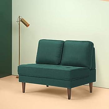 Amazon Com Zinus Christine Armless Upholstered 44 88 Inch