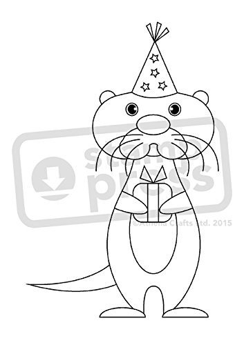 A7 'Otter Party' Unmounted Rubber Stamp (SP00000977)