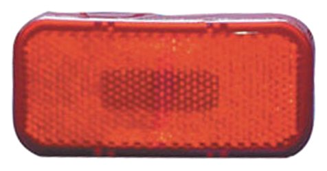 Fasteners Unlimited 003-59L 12 V Red Rectangle LED Clearance Light with Round Corners