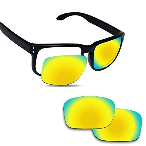 Fiskr Anti-saltwater Polarized Replacement Lenses for Oakley Holbrook Sunglasses - Various - Holbrooks Gold Oakleys