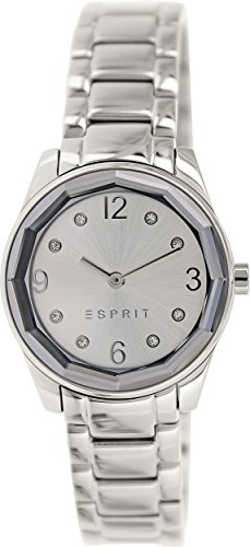 Esprit es106552005 28mm Silver Steel Bracelet & Case Mineral Women's Watch