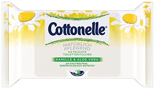 Cottonelle Feuchtes Toilettenpapier Natürlich Pflegend Nachfüllpack,12er Pack (12x 42 Tücher)