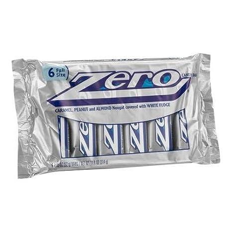 Zero Candy Bars, 1.85 oz, 6 count