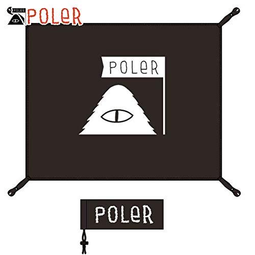 不適当はず操る[ポーラー] POLER 正規販売店 アウトドア シート GROUND TENT SHEET 43530001-BLK BLACK (コード:4131637913)