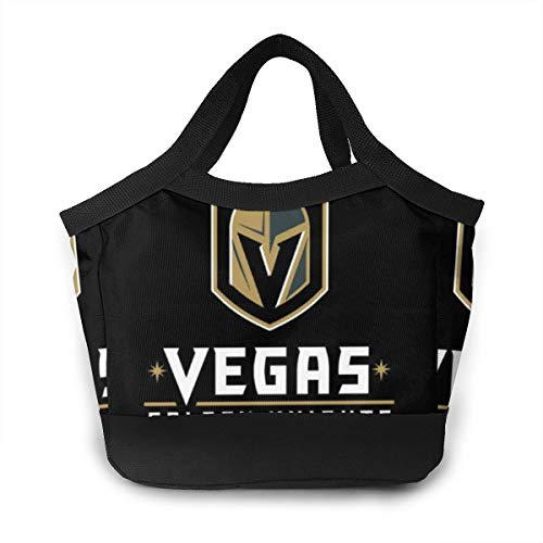 Vegas Golden Knights Lunch Bag Lunch Pail Container Work School Picnic Bbq Lunch Organizer Premium Handbag Easy To Clean