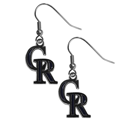 Siskiyou MLB Colorado Rockies Chrome Dangle Earrings