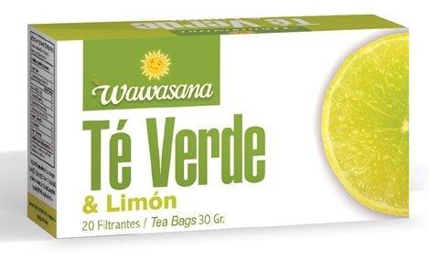 Wawasana. Green Tea & Lemon. 100 % Natural,From Peru.Green tea helps to lose weight. Lemon flavor. 20 tea bags per case.