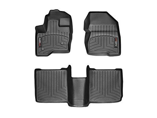 WeatherTech Custom Fit FloorLiner for Ford Flex -1st & 2nd Row (Black) (Ford Flex Floor Mats)