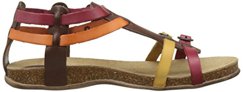 Kickers Ana, Sandales Bout Ouvert Femme Marron (Marron Rouge Orange)