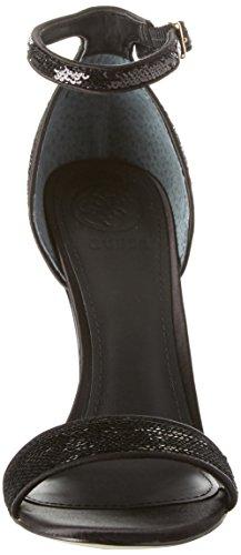 alla Dress Donna Sandal Cinturino Caviglia con Nero Footwear Guess Scarpe Y4PSS8