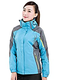 SANKE Women's Outdoor Windproof Waterproof Detachable Ski Snowboarding Hooded Jacket