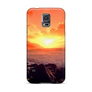JacquieWasylnuk Samsung Galaxy S5 Comfortable Phone Hard Covers Customized High Resolution Sunset Ocean Image [EMs20545cIZV]
