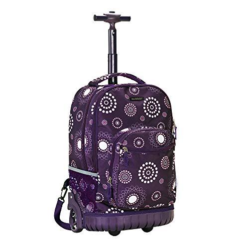 Rockland Luggage 19 Inch Rolling Backpack Printed, Purple Pearl, Medium