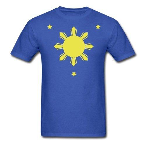 Philippines Sun Stars Men's T-Shirt, M, royal blue