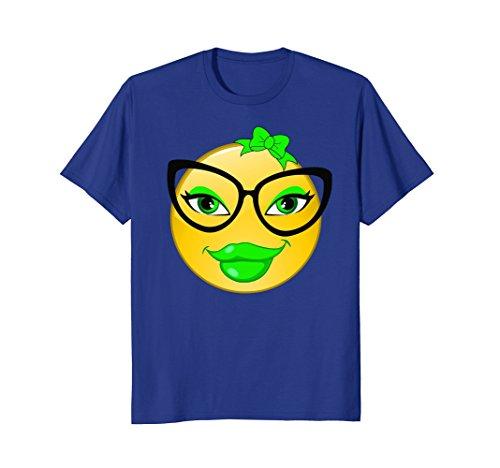 St Patrick's Day Emoji Nerd Shirt Geek Glasses - Costume Day Nerd