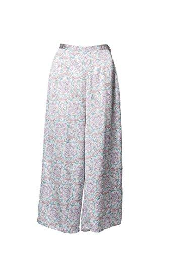 David Christian, pantalón midi, estampado, ancho, mosaico