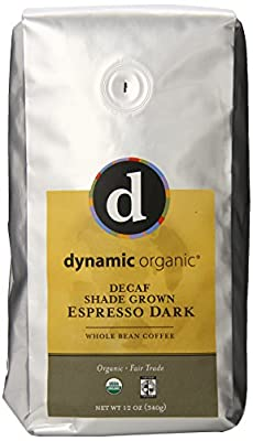 Ambassador Organics Decaf Espress Dark Roast Whole Bean Organic Coffee, 12-Ounce