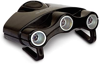 New Cyclops Orion Black Hat Clip Light w// 3 White LED Bulbs Model# CYC-HC1-W