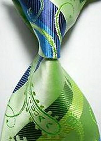 Jacob AleX #47201 Costume Geometric Green JACQUARD WOVEN Necktie