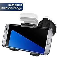 Samsung Galaxy S7 Edge Easy-dock Car Mount Holder [Windshield/Dashboard Cradle] **New 2016 Version** Encased® Lifetime Warranty