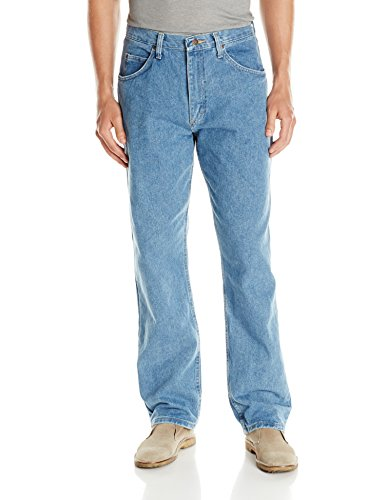 Wrangler Authentics Men's Classic 5-Pocket Relaxed Fit Cotton Jean, Stone Bleach, 34W x 32L