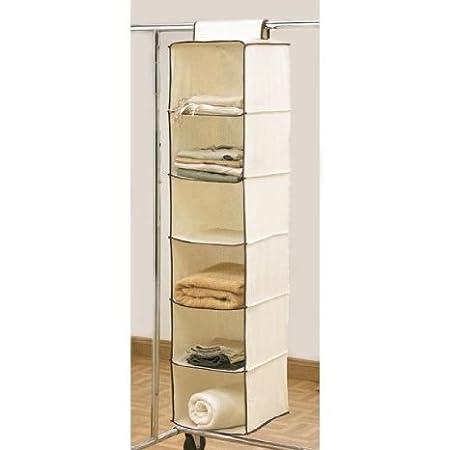 Exceptionnel 6 Shelf Hanging Wardrobe Storage Unit Sweater Organiser
