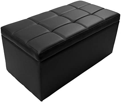 Magshion Rectangle Living Unfold Storage Bench Footstools Seat End Coffee Table Ottoman