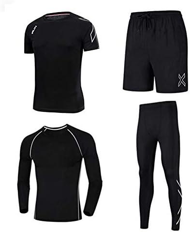 ファッション 男性のためのフィットネス衣類、4ピースのトラックスーツ、ジムスポーツウェア エレガント